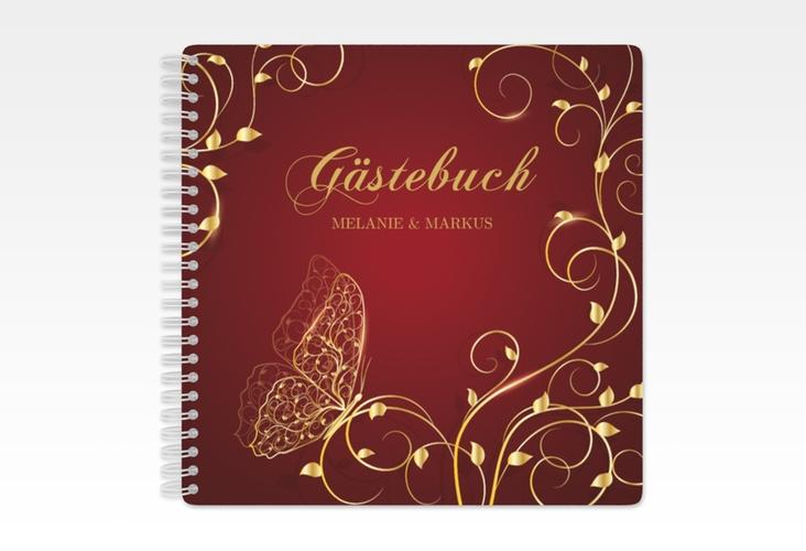 "Gästebuch Hochzeit ""Eternity"" Ringbindung rot"