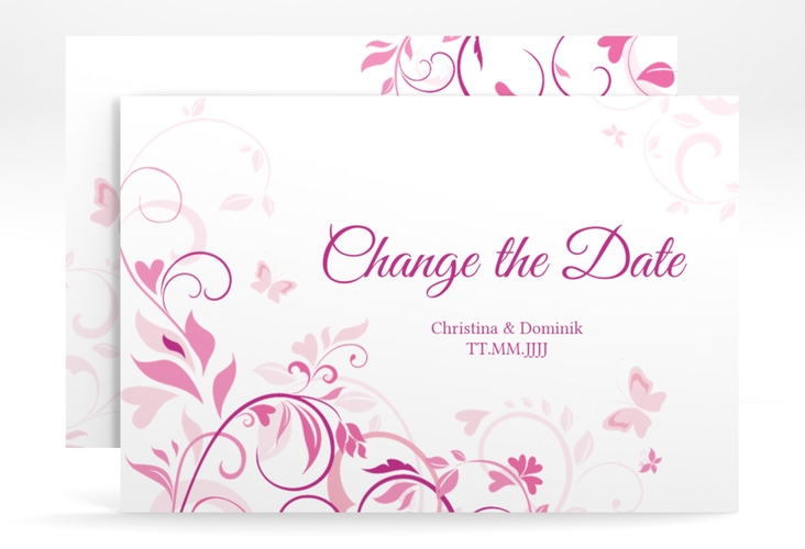 "Change the Date-Karte ""Lilly"" A6 quer"