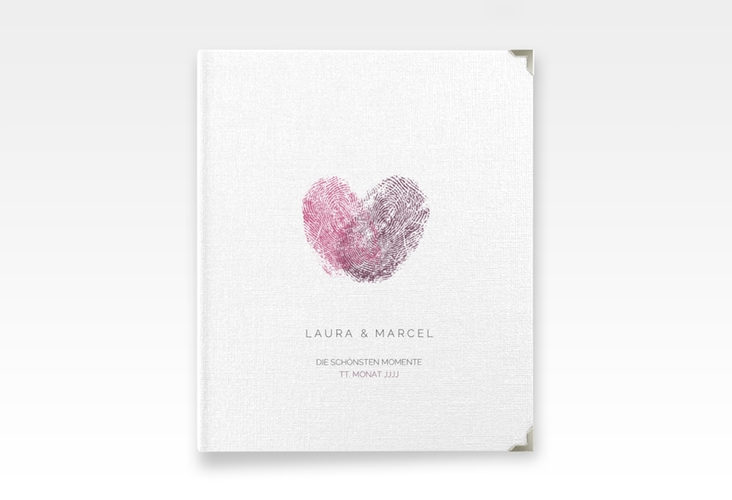 "Hochzeitsalbum ""Fingerprint"" 21 x 25 cm pink"