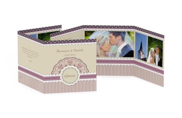 Ringraziamenti matrimonio collezione Sorrento Quadr. Karte doppelt