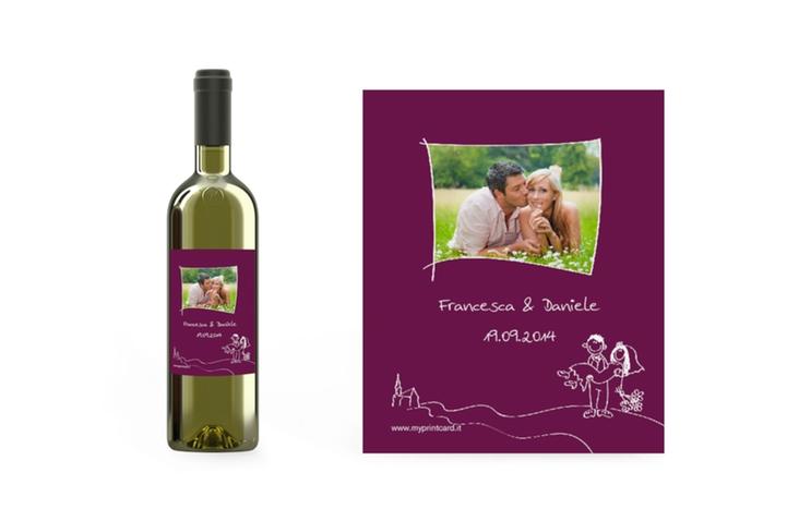 Etichette vino matrimonio collezione Pisa Etikett Weinflasche 4er Set