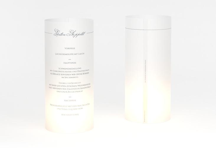 """Windlicht Menü Hochzeit """"Pure"""" Windlicht grau"""