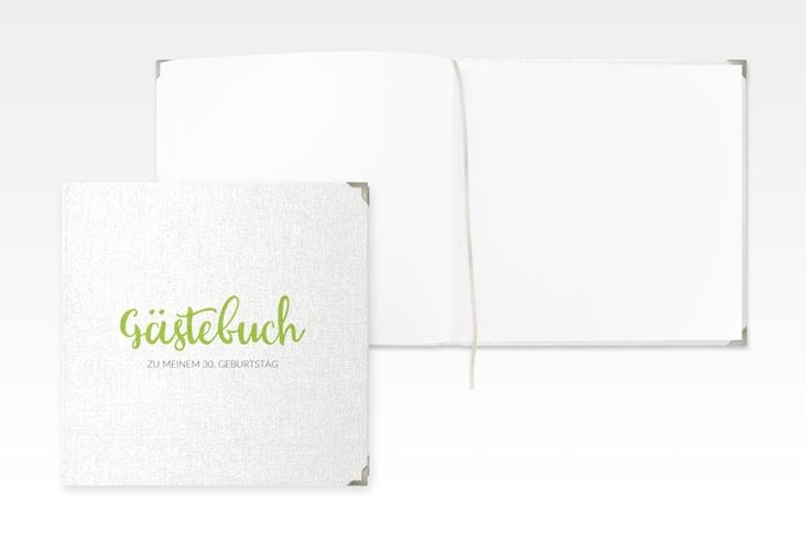 "Gästebuch Selection Geburtstag ""Handwriting"" Leinen-Hardcover gruen"