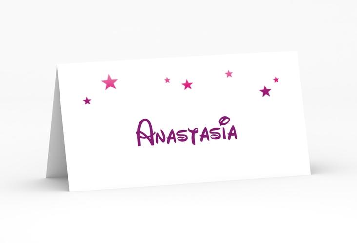 """Tischkarte Hochzeit """"Castle"""" Tischkarten pink"""