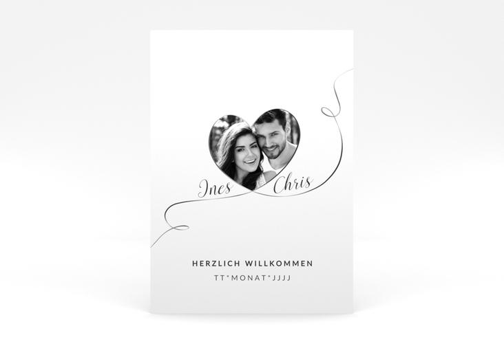 """Willkommensschild Leinwand """"Dolce"""" 50 x 70 cm Poster weiss"""