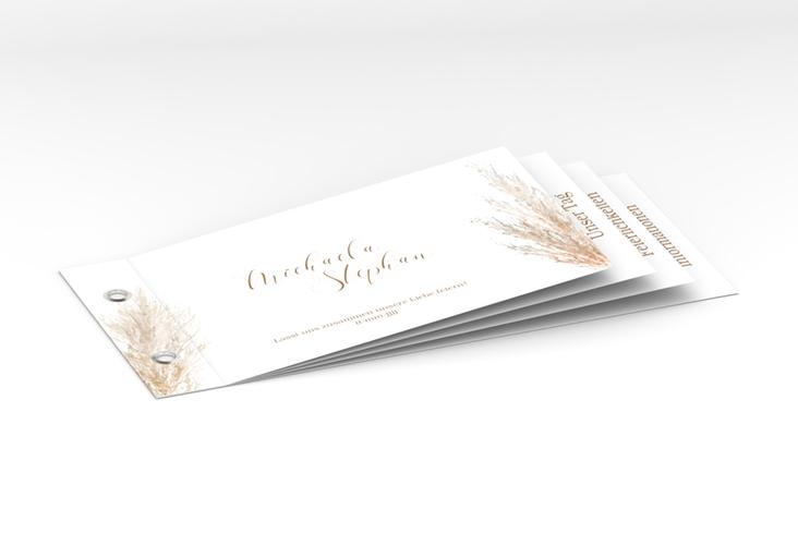 """Hochzeitseinladung """"Pampasgras"""" Booklet weiss"""