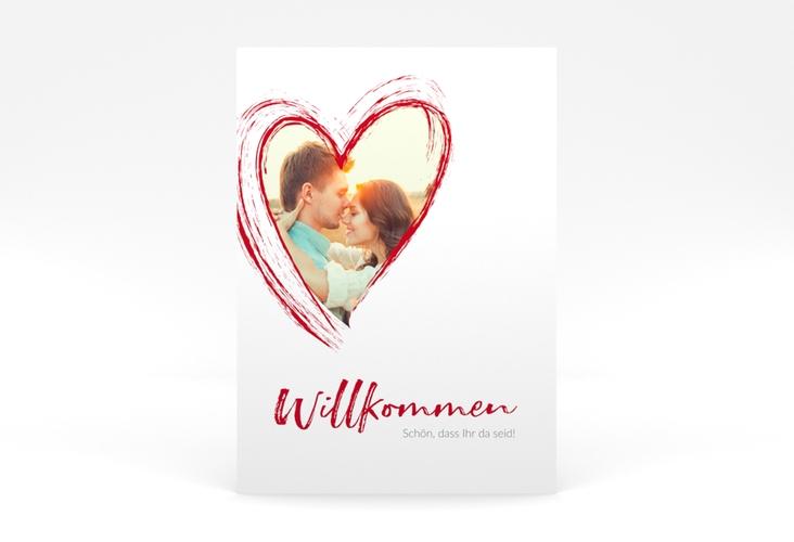"""Willkommensschild Poster """"Liebe"""" 50 x 70 cm Poster rot"""
