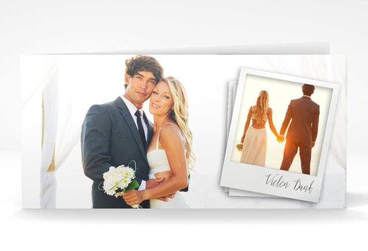 "Dankeskarte Hochzeit ""Portrait"" DIN lang Klappkarte"