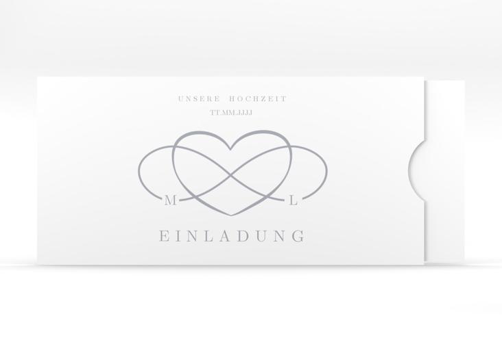 """Hochzeitseinladung """"Infinity"""" Einsteckkarte grau"""