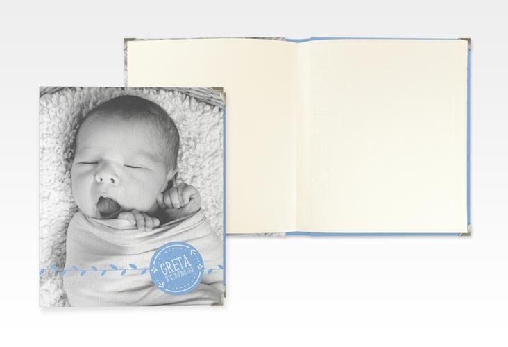 """Baby Fotoalbum """"Unikat"""" 21 x 25 cm blau"""