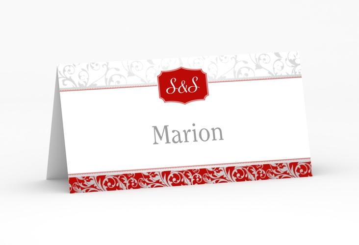 """Tischkarte Hochzeit """"Latina"""" Tischkarten rot"""