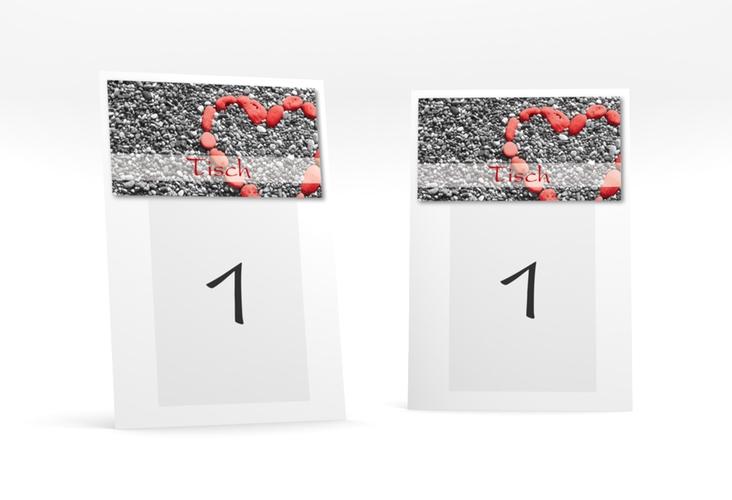 """Tischnummer Hochzeit """"Bilbao"""" Tischaufsteller rot"""