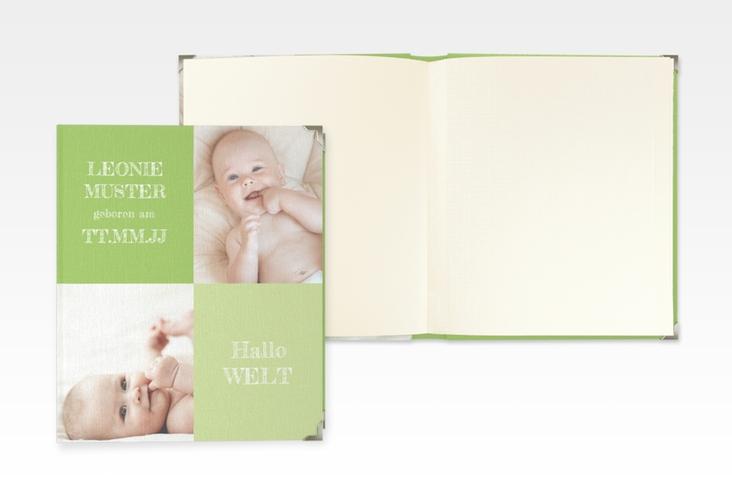 """Baby Fotoalbum """"Freude"""" 21 x 25 cm gruen"""
