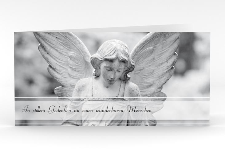 """Danksagungskarte Trauer """"Engel"""" DIN lang Klappkarte"""