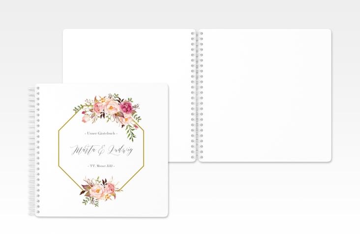 "Gästebuch Hochzeit ""Prachtvoll"" Ringbindung weiss"