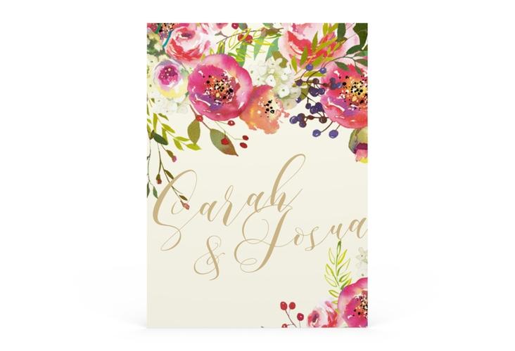 "Save the Date-Visitenkarte ""Flowerbomb"" Visitenkarte beige"