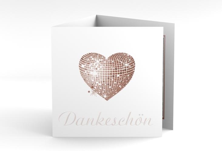 "Danksagungskarte Hochzeit ""Rimini"" Quadr. Karte doppelt braun"