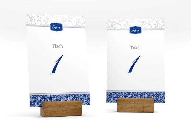 """Tischnummer Hochzeit """"Latina"""" Tischaufsteller blau"""