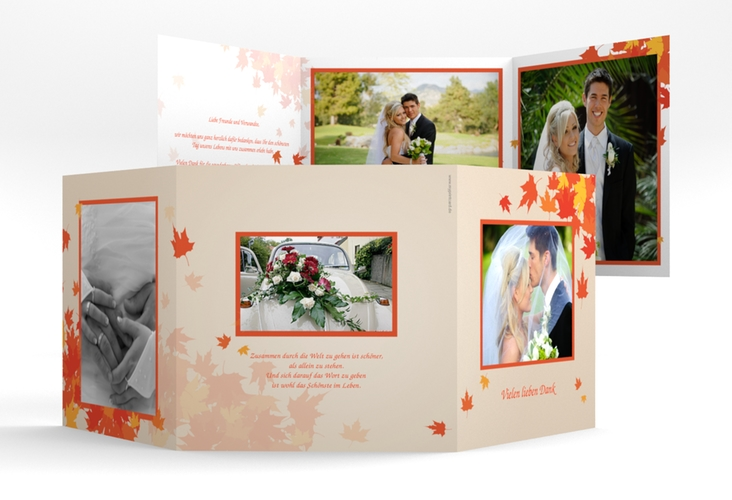 "Dankeskarte Hochzeit ""Zwiesel"" Quadr. Karte doppelt"