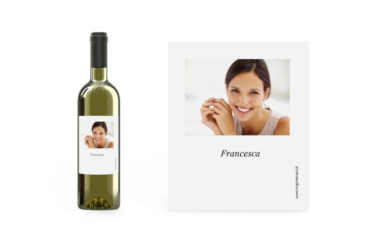 Etichetta Vino bianco Etikett Weinflasche 4er Set