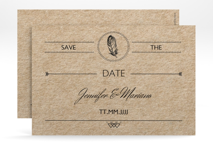 "Save the Date-Karte Hochzeit ""Colorado"" A6 quer"