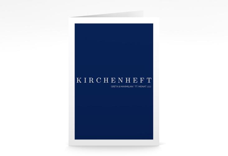 "Kirchenheft Hochzeit ""Simply"" DIN A5 geklappt"