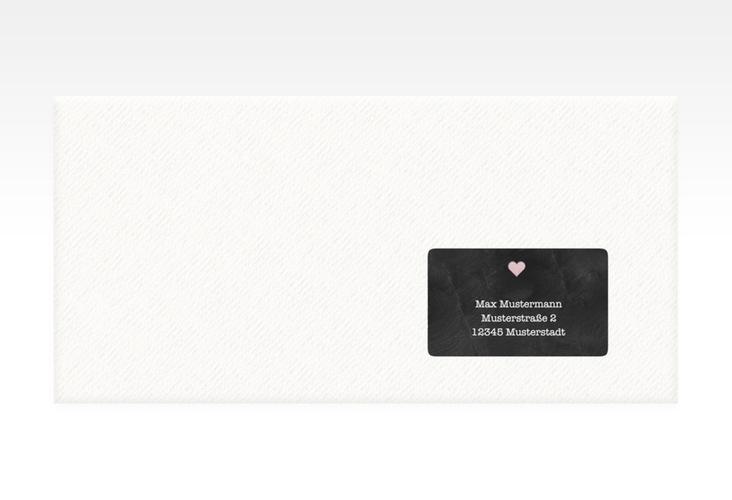 """Empfängeretikett Hochzeit """"Sparkly"""" 63,5 x 38,1 mm rosa"""