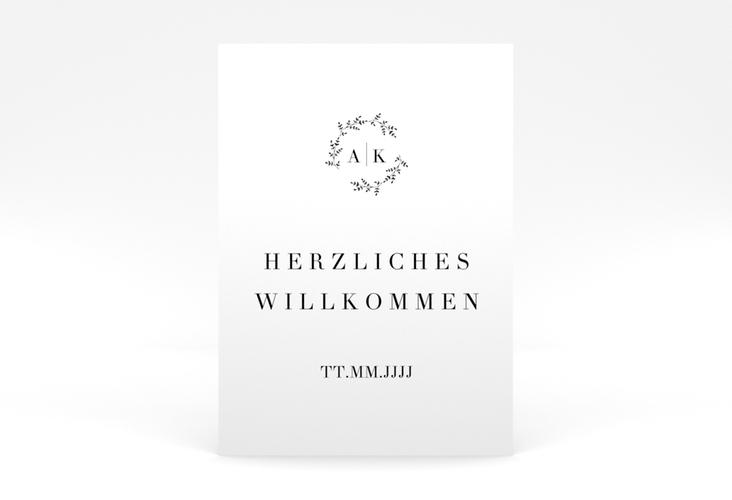 "Willkommensschild Poster ""Filigrana"" 50 x 70 cm Poster"
