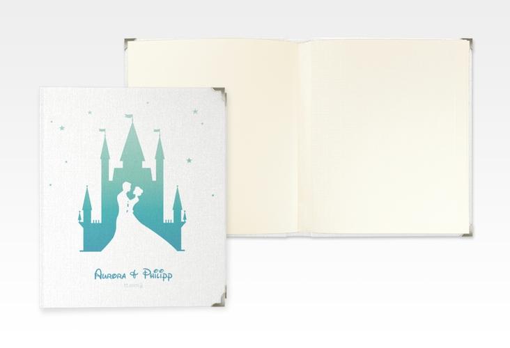 """Hochzeitsalbum """"Castle"""" 21 x 25 cm tuerkis"""