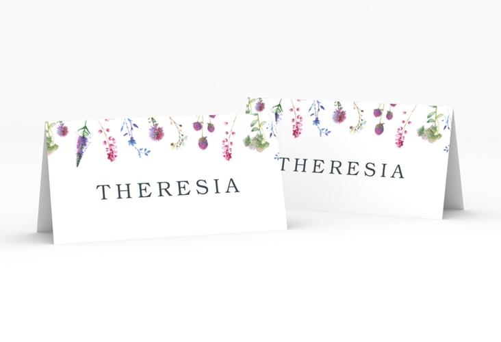 """Tischkarte Hochzeit """"Wildblumen"""" Tischkarten weiss"""