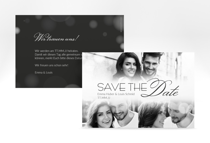 "Save the Date-Karte ""Bokeh"" A6 quer"