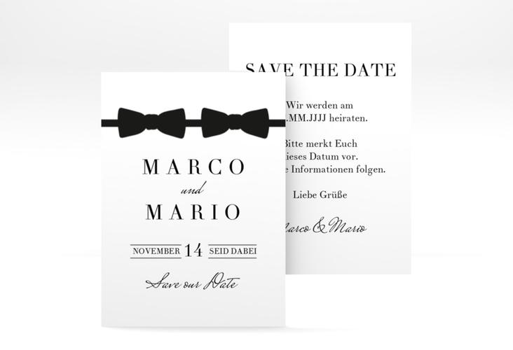 "Save the Date-Visitenkarte ""Suits"" Visitenkarte schwarz"