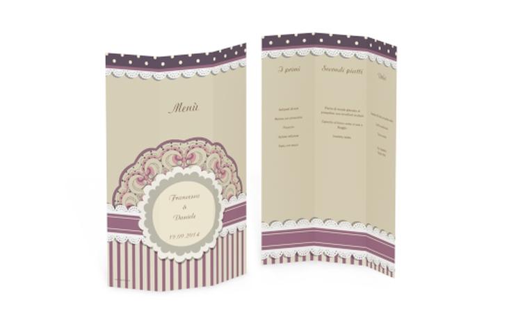 Menù matrimonio collezione Sorrento DIN A4 Wickelfalz