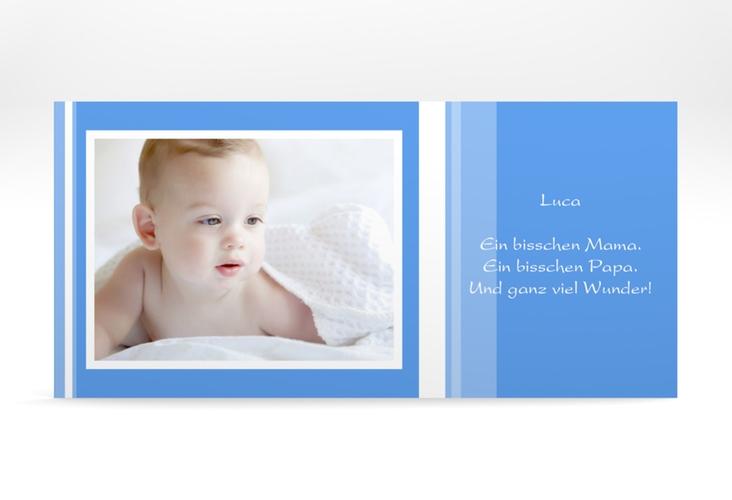 """Geburtskarte """"Linien"""" DIN lang"""