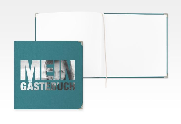 "Gästebuch Selection Geburtstag ""Numbers"" Hardcover tuerkis"