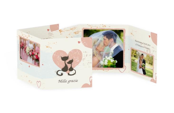 Ringraziamenti matrimonio collezione Brema Quadr. Karte doppelt