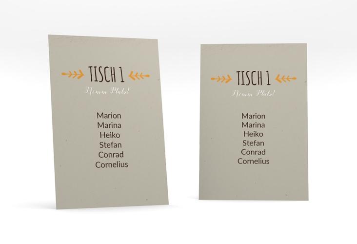 """Tischaufsteller Hochzeit """"Eden"""" Tischaufsteller orange"""