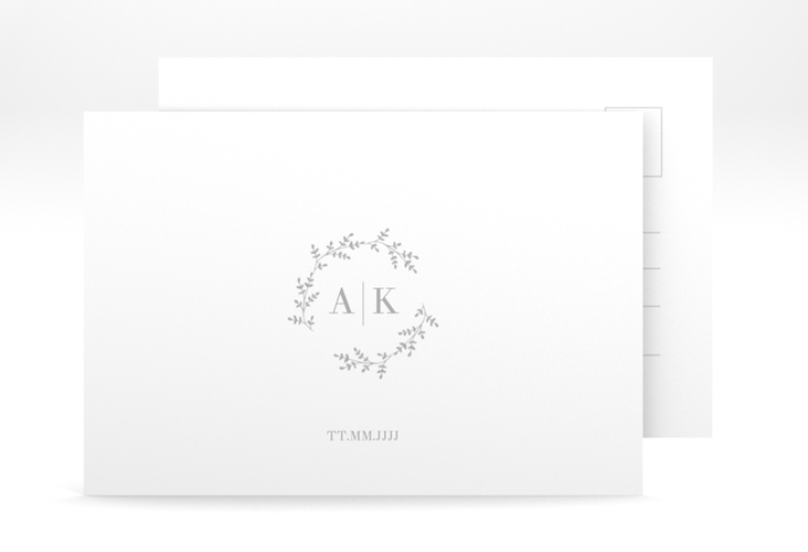 "Antwortkarte Hochzeit ""Filigrana"" A6 Postkarte"