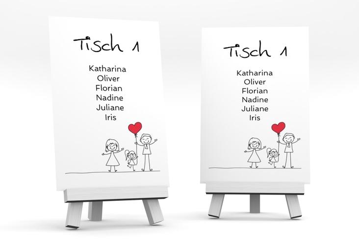 """Tischaufsteller Hochzeit """"Familia"""" Tischaufsteller"""