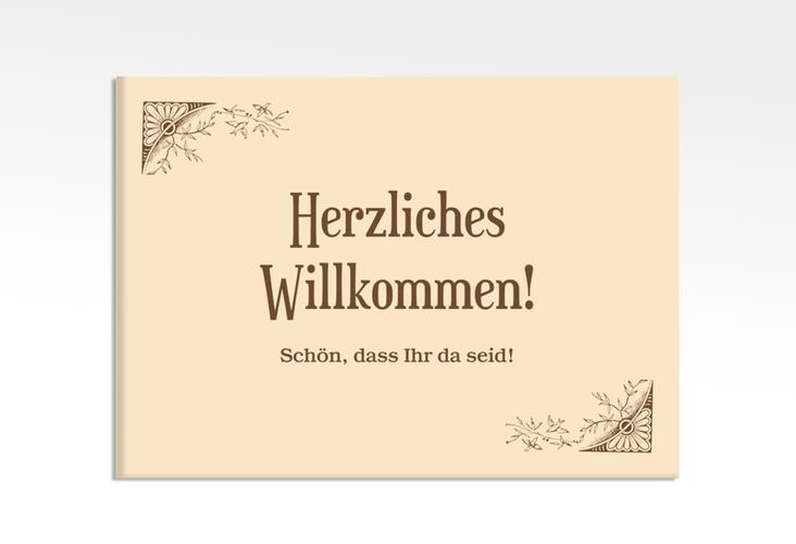 """Willkommensschild Hochzeit """"Storybook"""" 70 x 50 cm Leinwand"""