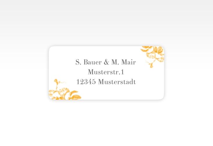 """Absenderetikett Hochzeit """"Magnificent"""" 45,7 x 21,2 mm gelb"""