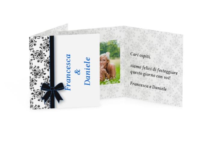 Biglietti Bomboniera matrimonio collezione Bologna Geschenkanhänger 10er Set blu