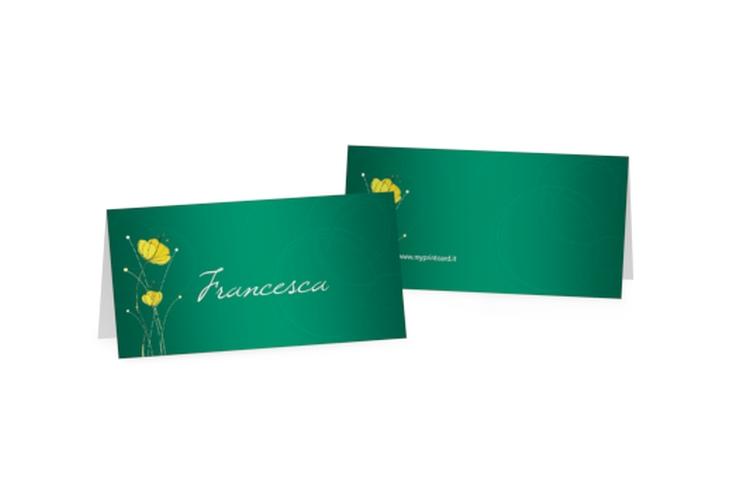 Segnaposti matrimonio collezione Madrid Tischkarten verde