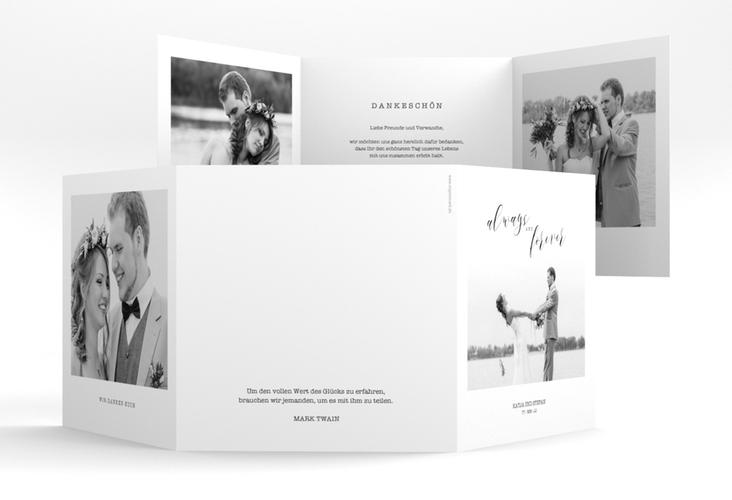 """Dankeskarte Hochzeit """"Photoframe"""" Quadr. Karte doppelt"""