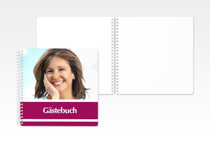 "Gästebuch Geburtstag ""Gerd/Gerda"" Ringbindung pink"