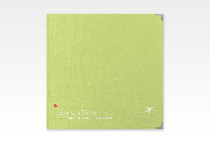 """Gästebuch Selection Hochzeit """"Weddingpass"""" Leinen-Hardcover gruen"""