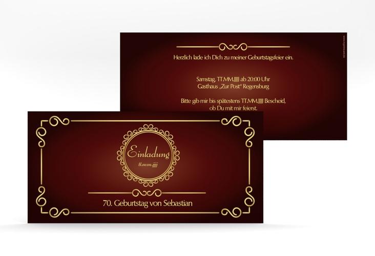 """Einladungskarte """"Bert/Berta"""" DIN lang rot"""