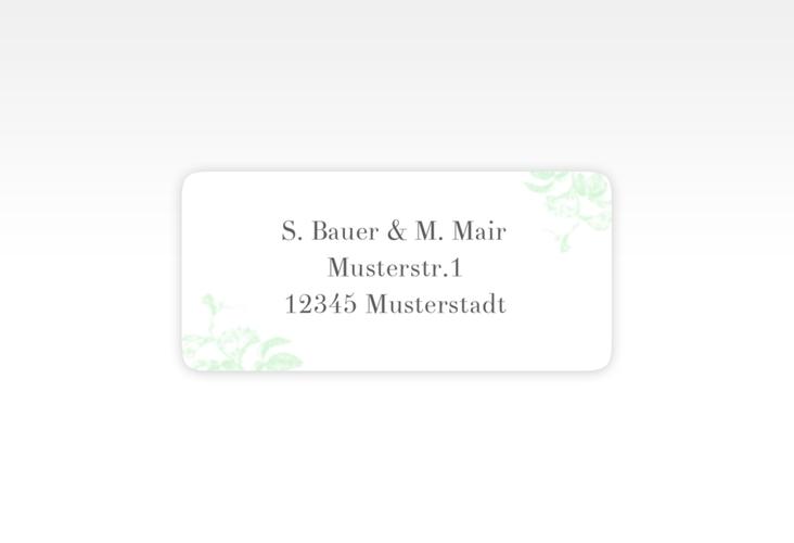 """Absenderetikett Hochzeit """"Magnificent"""" 45,7 x 21,2 mm mint"""