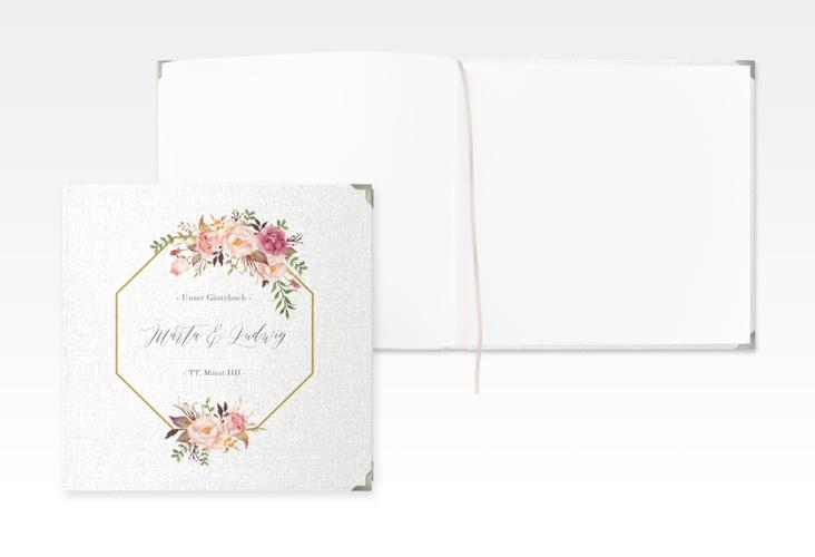 "Gästebuch Selection Hochzeit ""Prachtvoll"" Leinen-Hardcover weiss"