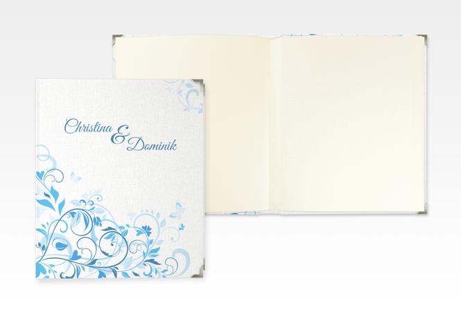 "Hochzeitsalbum ""Lilly"" 21 x 25 cm blau"